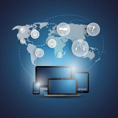 Cloud Computing Concept Stock Vector - 20668233