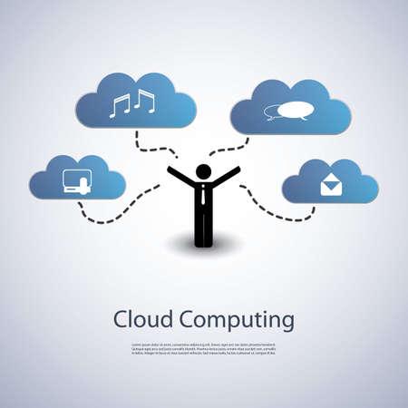 Cloud Computing Concept Stock Vector - 21096712