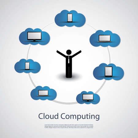 Cloud Computing Concept Stock Vector - 21049988