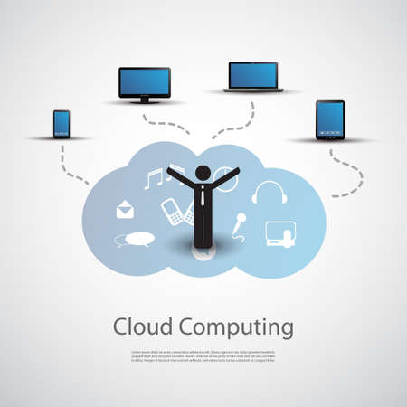 Cloud Computing Concept Stock Vector - 20988258