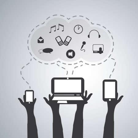 Cloud Computing Concept Stock Vector - 20791341
