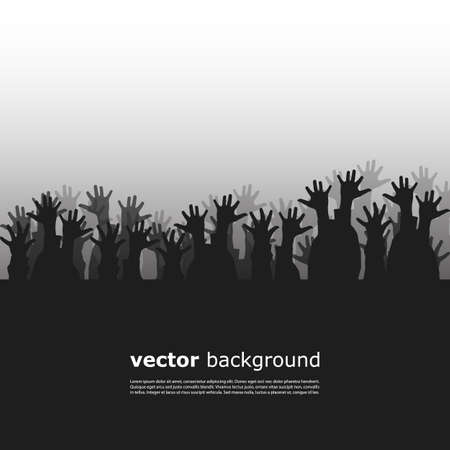 poor people: Crowd Silhouette Illustration