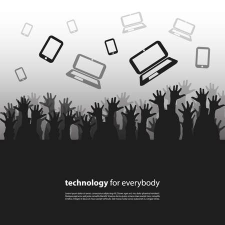 shadow people: Technology for Everybody - Design Concept Illustration