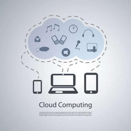 Cloud Computing Concept Stock Vector - 20839734