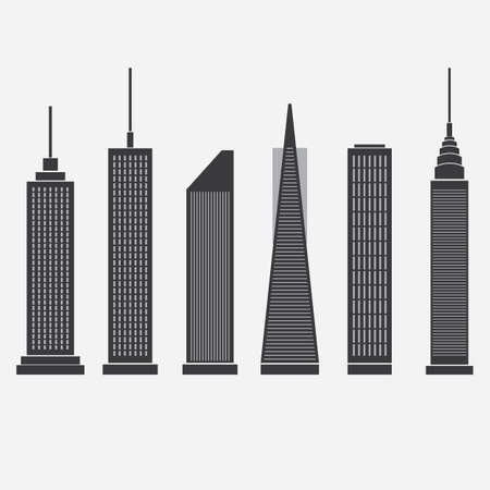 Skyscraper Icons Stock Vector - 20839735