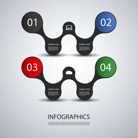 numbers abstract: Infographic Design
