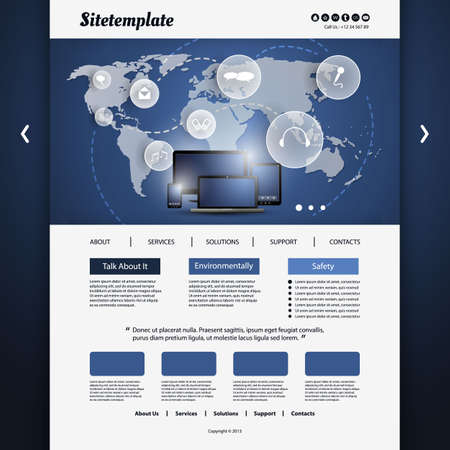 Website Template Stock Vector - 20966755