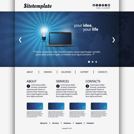 Website Template Stock Vector - 20988285