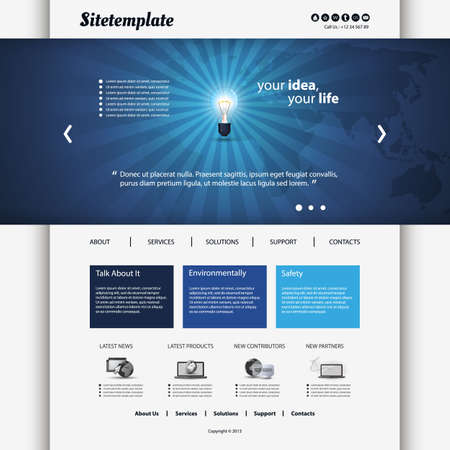 web site design: Website Template