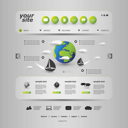 web layout: Website Template
