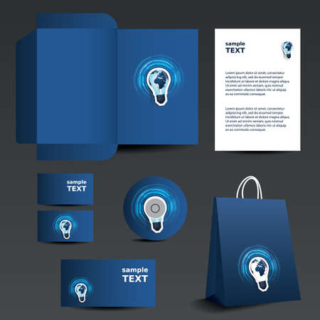 die: Stationery template design - business set