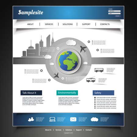 Website Template Stock Vector - 21440665