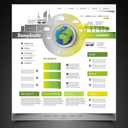 desarrollo sustentable: Sitio Web de plantillas Vectores