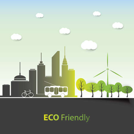 eco tourism: Eco Friendly - Background Design Illustration
