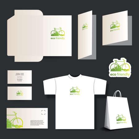 diecut: Stationery template design - business set