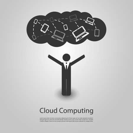 Cloud Computing Design Stock Vector - 21584822
