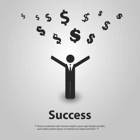 financial success: Finanzieller Erfolg Design Concept