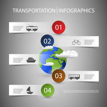 tallship: Infographic Design with Transportation Icons