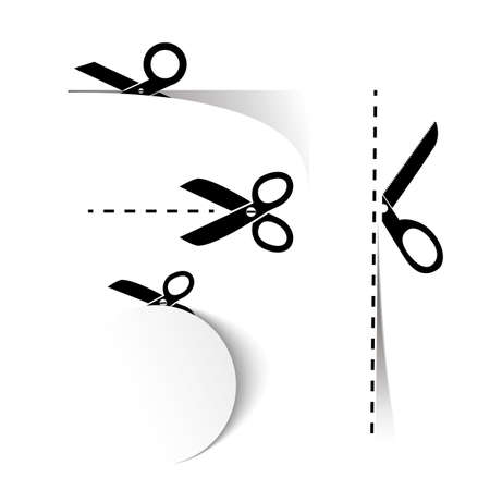 Scissors Template Vector