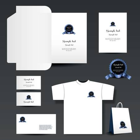 stationary set: Stationery template design - business set