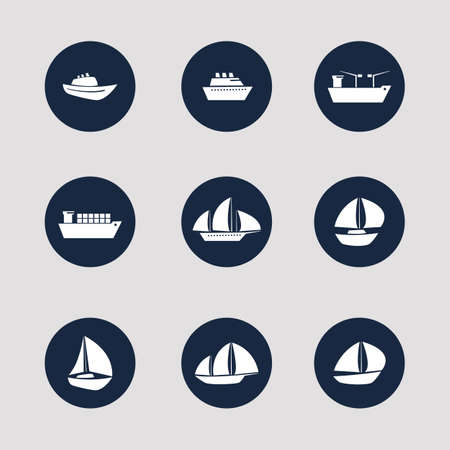 Boat and Ship Icons Vector
