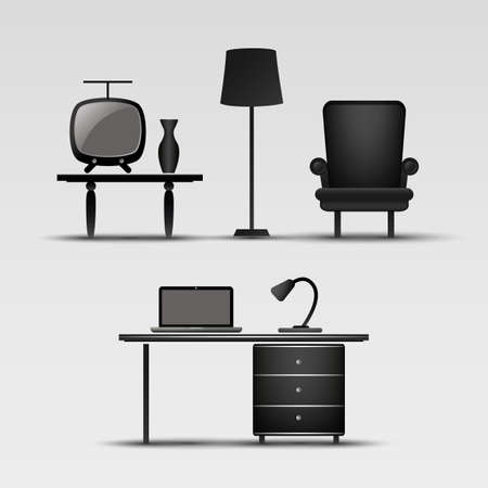 Home Interior Icons Vector