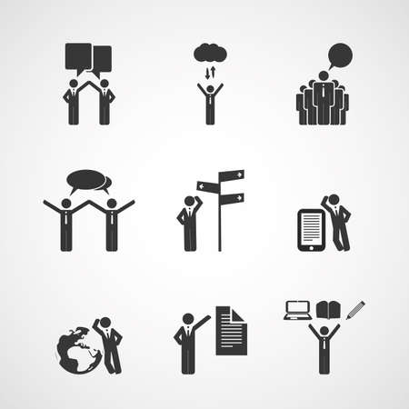 social actions: Figures, Peoples Icons - Business Concept
