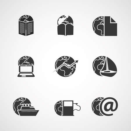 time account: Icon Set - Business, IT, Media, Everyday Life Illustration