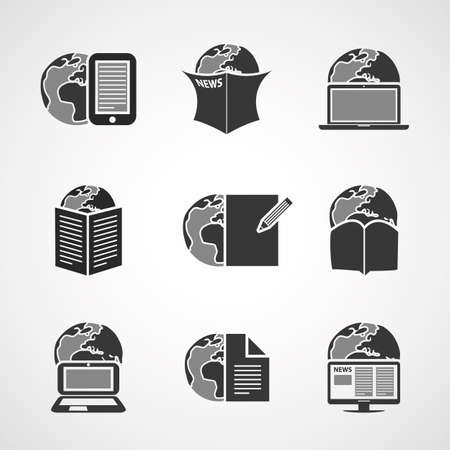 social actions: Icon Set - Business, IT, Media, Everyday Life Illustration