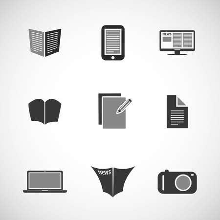 it business: Icon Set - Business, IT, Media, Everyday Life Illustration