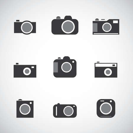Set of Various Camera Icons  Vector