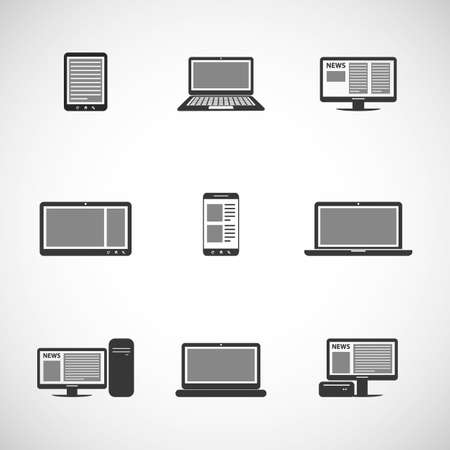 IT Device Icons Vector
