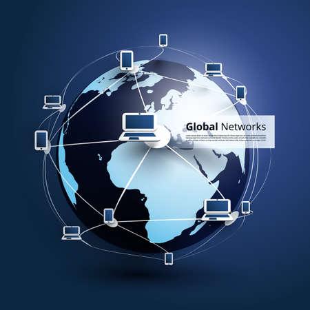 Global Networks  Vector