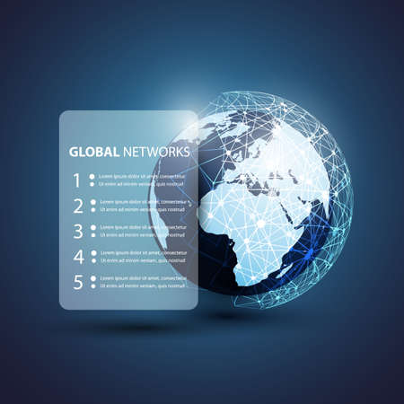 Global Networks - for Your Business Vector