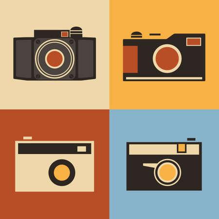 Retro Icons - Cameras Vector