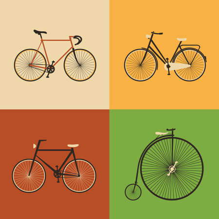 fix gear: Retro Icons - Bicycles