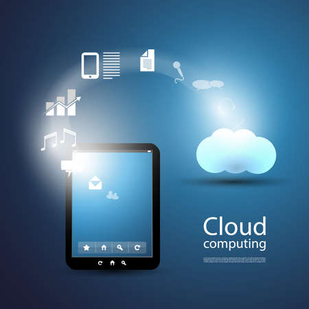 Cloud Computing Design Vector
