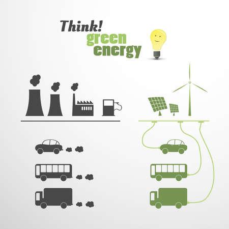 Green Energy - Eco Vector Illustratie