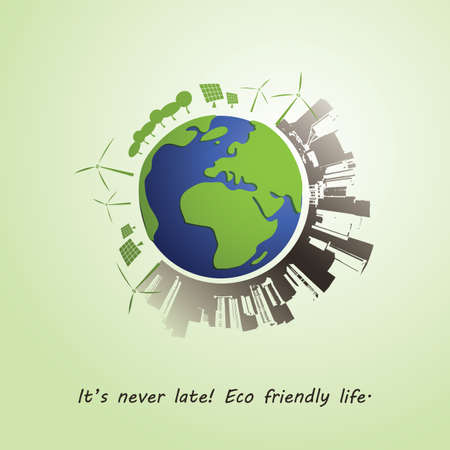 Environmentally Friendly Planet Vector