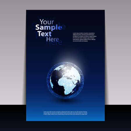 the blue cell: Global Networks - Flyer Concept