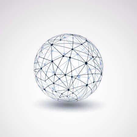 地球儀 - ネットワーク  イラスト・ベクター素材