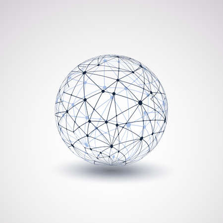connected world: Globe Design - Networks
