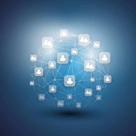 the sphere: Redes Sociales - Vector Ilustración de negocio Vectores