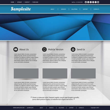 web page: Website Template
