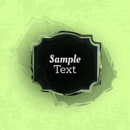 Grunge Background with Painted Frame - Abstract Background Design Vector