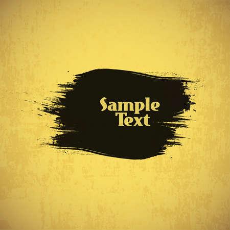 splashy: Abstract Grungy Background Design with Splashy Label Illustration