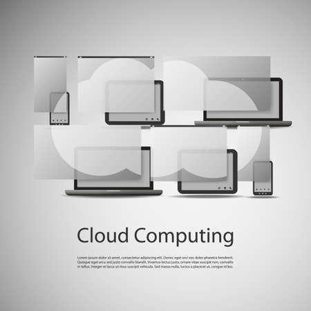 Cloud Computing Concept Stock Vector - 22951016