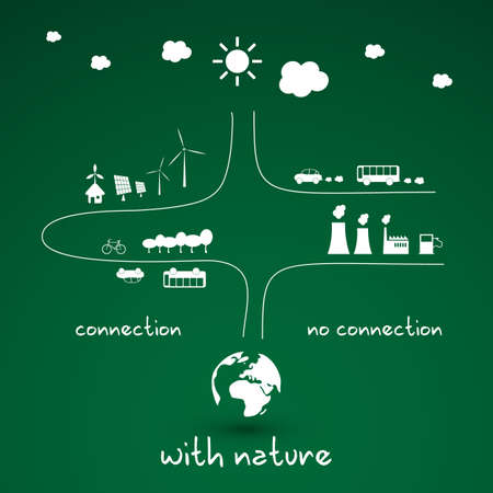 environmental pollution: Eco Infographic Design