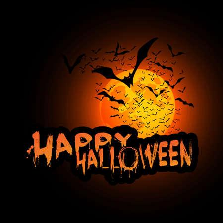 Happy Halloween Card Illustration Stock Vector - 22161889