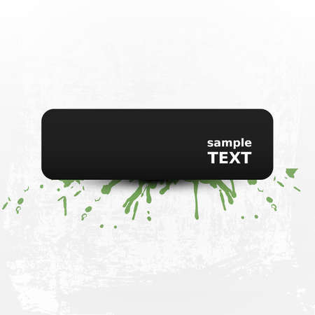 splashy: Grungy Background with Splashy Banner - Abstract Background Design Illustration